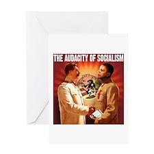 communist obama Greeting Card