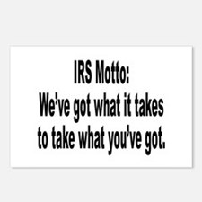 IRS Tax Motto Humor Postcards (Package of 8)
