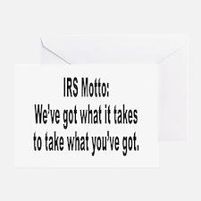 IRS Tax Motto Humor Greeting Card