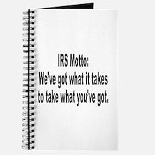 IRS Tax Motto Humor Journal