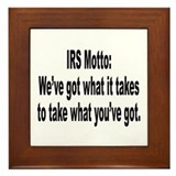 Funny tax sayings Framed Tiles