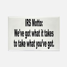 IRS Tax Motto Humor Rectangle Magnet