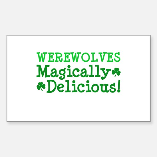 Werewolves Delicious Rectangle Decal