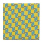Retro Bloxy Boxes Tile Drink Coaster
