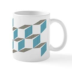 Retro Bloxy Boxes Ceramic Coffee Mug