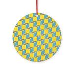 Retro Bloxy Boxes Ornament (Round)