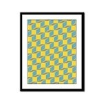 Retro Bloxy Boxes Framed Panel Print