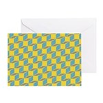 Retro Bloxy Boxes Greeting Card