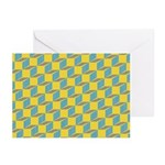 Retro Bloxy Boxes Greeting Cards (Pk of 10)