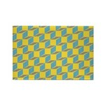 Retro Bloxy Boxes Rectangle Magnet (100 pack)