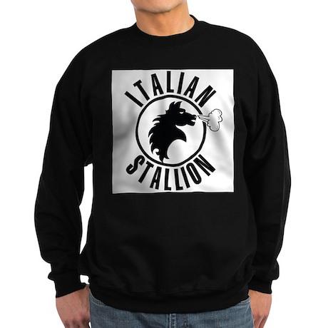 The Italian Stallion (Black) Sweatshirt (dark)
