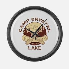 Camp Crystal Lake Large Wall Clock
