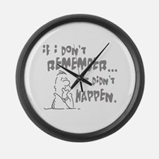If I don't remeber, It didn't Large Wall Clock