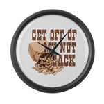 Get Off of My Nut Sack Large Wall Clock