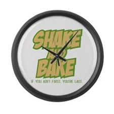 Shake And Bake (Light shirt) Large Wall Clock