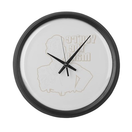 You're the Man (dark) Large Wall Clock