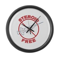 Steroid Free (dark) Large Wall Clock