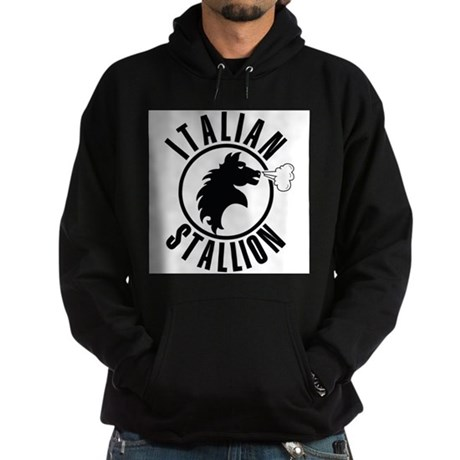 Italian Stallion (black print Hoodie (dark)