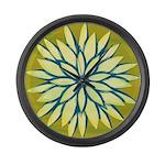 Funky Chrysanthemum Large Wall Clock