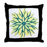 Funky Chrysanthemum Throw Pillow