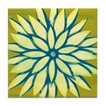 Funky Chrysanthemum Tile Drink Coaster
