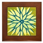 Funky Chrysanthemum Framed Tile