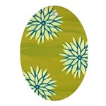 Funky Chrysanthemum Oval Ornament