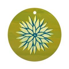 Funky Chrysanthemum Ornament (Round)