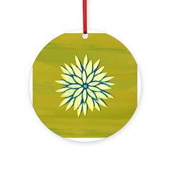 Funky Chrysanthemum Ornament (Round)