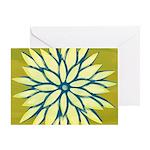Funky Chrysanthemum Greeting Card