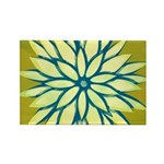 Funky Chrysanthemum Rectangle Magnet (100 pack)