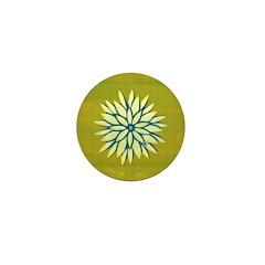 Funky Chrysanthemum Mini Button