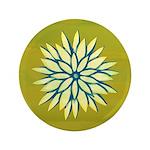 "Funky Chrysanthemum 3.5"" Button"