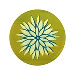 "Funky Chrysanthemum 3.5"" Button (100 pack)"