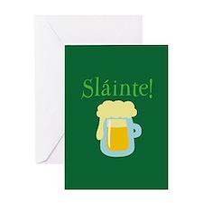 Sláinte Beer Greeting Card