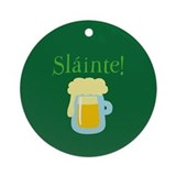 Green beer ornament Round Ornaments