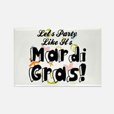 'Mardi Gras Party' Rectangle Magnet (10 pack)