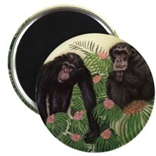 Pair of Chimps Magnet