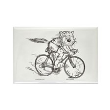 Bicycle Cat Rectangle Magnet