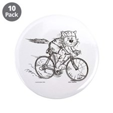 "Bicycle Cat 3.5"" Button (10 pack)"