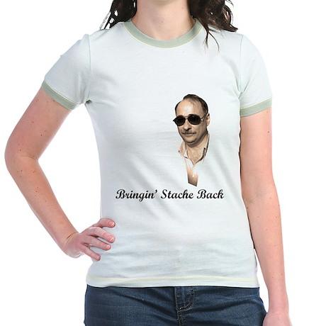 Axelrod - Bringin' Stache Back - Jr. Ringer T-Shir