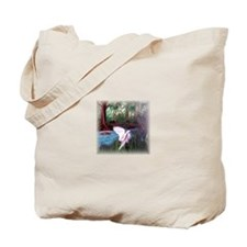 Riverbank Crane Tote Bag