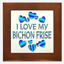 Bichon Framed Tile