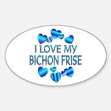 Bichon Oval Decal