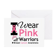 I Wear Pink For Warriors Greeting Cards (Pk of 20)