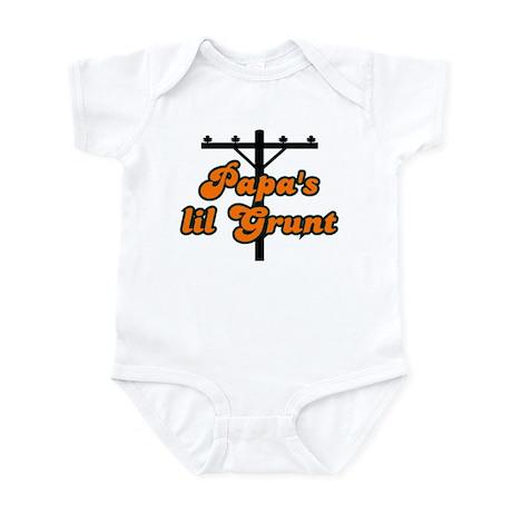 papa's lil grunt orange Infant Bodysuit