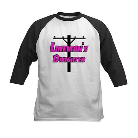 Lineman's daughter Kids Baseball Jersey