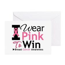 I Wear PInk To Win Greeting Cards (Pk of 20)