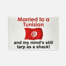 Married to a Tunisian Rectangle Magnet