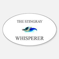 The Stingray Whisperer Oval Decal